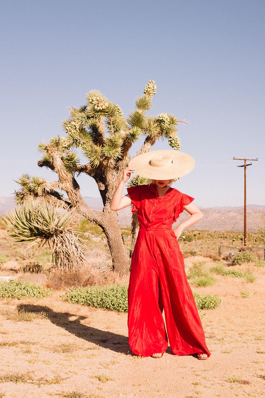 Drempt desert vintage silk jumpsuit